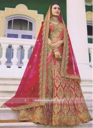 Unstitched Bridal Lehenga Choli