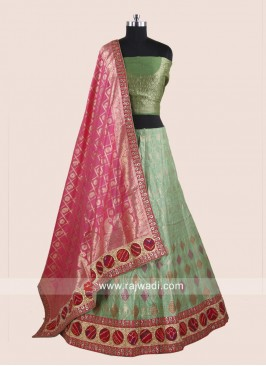 Brocade and Silk Designer Lehenga Choli