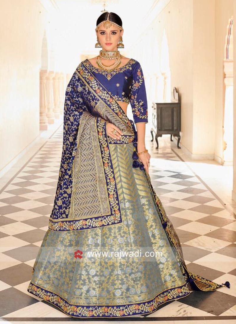 Brocade Silk Lehenga Set