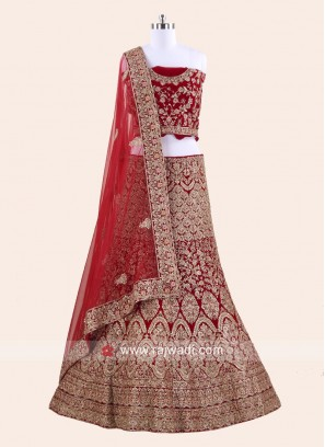 Heavy Embroidered Lehenga for Bride