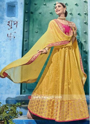 Unstitched Heavy Work Wedding Lehenga Set
