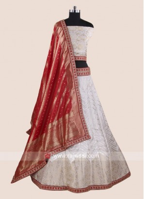 Exclusive Bridal Lehenga Choli in White