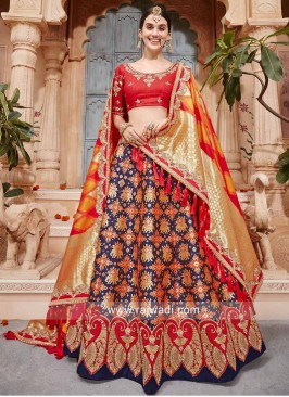 Unstitched Lehenga Choli with Dupatta