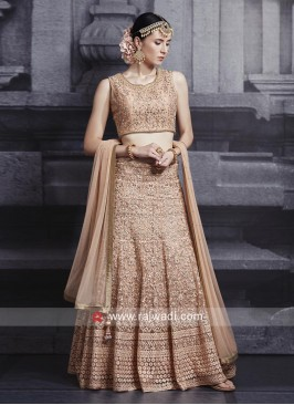 Unstitched Net Lehenga Set
