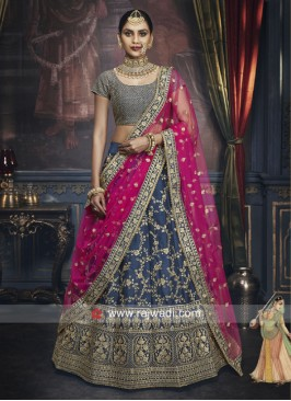 Unstitched Silk Heavy Lehenga