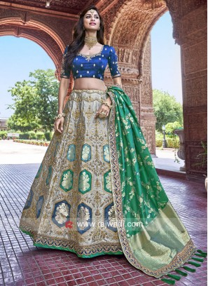 Unstitched Stone Work Lehenga Choli