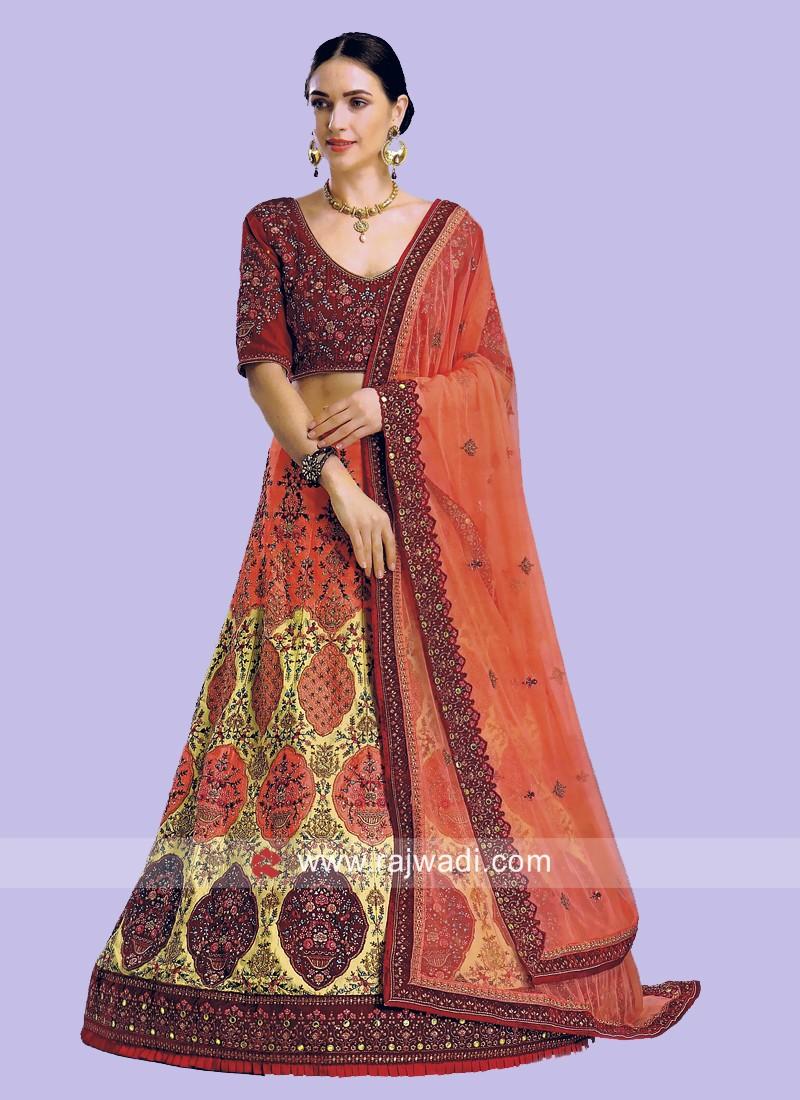 Unstitched Wedding Lehenga Choli