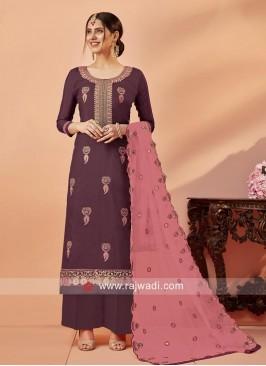 Uppada Silk Designer Palazzo Suit