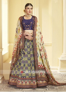Uppada Silk Embroidered Choli Suit