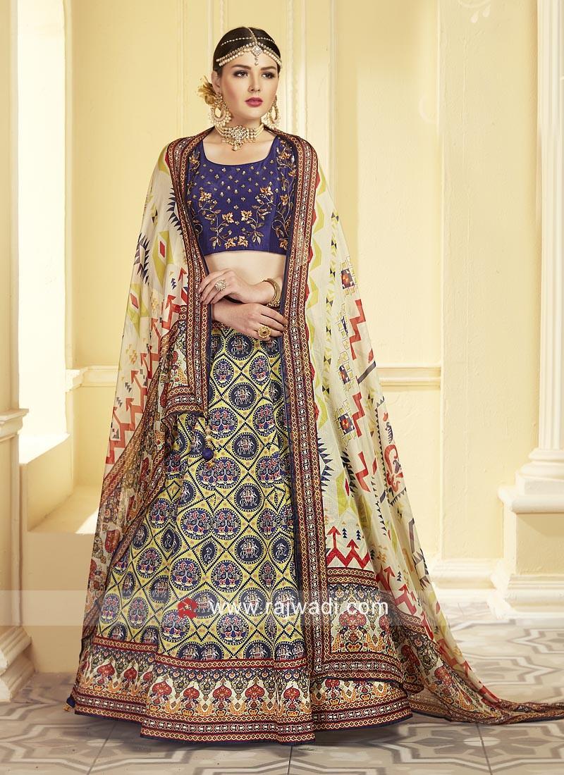 Uppada Silk Embroidered Choli Suit