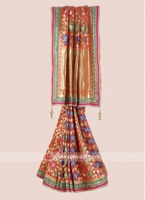 Uppada Silk Embroidered Saree