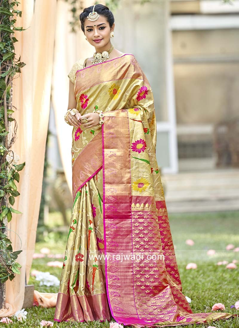 Uppada Silk Resham Weaving Saree