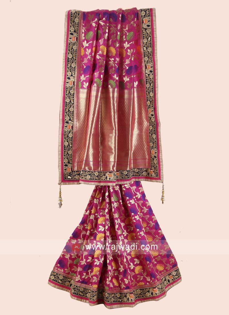 Uppada Silk Saree with Silk Blouse