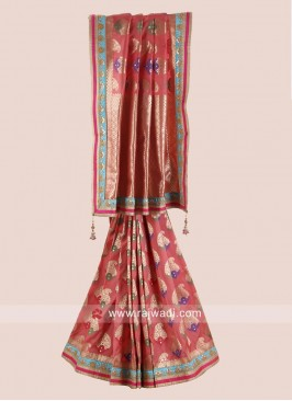 Uppada Silk Wedding Saree with Border