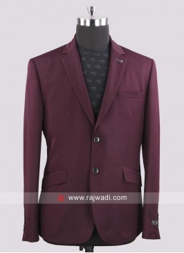 Van Heusen Attractive Wine Color Blazer For Wedding