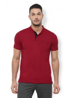 Van Heusen Maroon T-Shirt