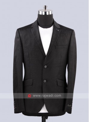 Van Heusen Plain Black Color Mens Blazer
