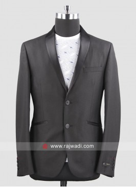 Van Heusen Slim Fit Black Blazer For Mens