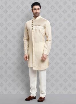 Cream And Off-White Kurta Pajama