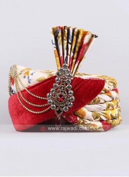 Velvet and Art Silk Designer Safa