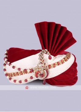 Velvet and Art Silk Fabric Safa