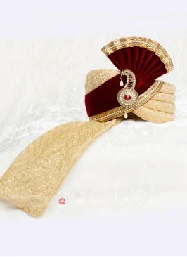 Velvet And Art Silk Grooms Safa