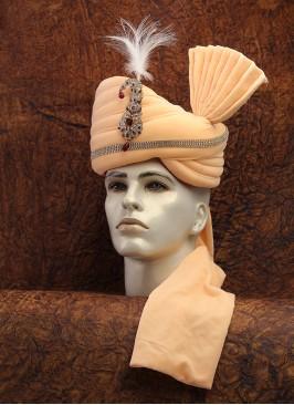 Velvet Cream Wedding Turban
