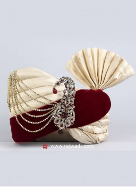 Art Silk and Velvet Fabric Safa