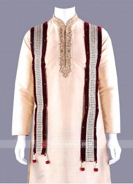 Velvet Embroidered Dupatta with Latkan