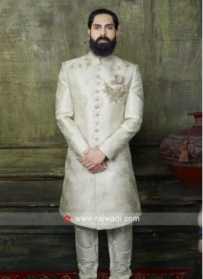 Stylish Off White Indo Western