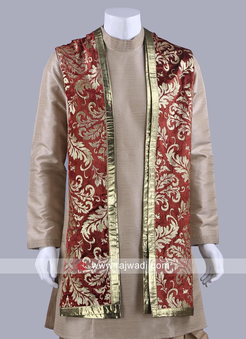 Velvet Fabric Maroon Color Dupatta