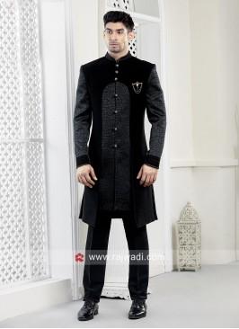 Velvet Fabric Mens Indo western