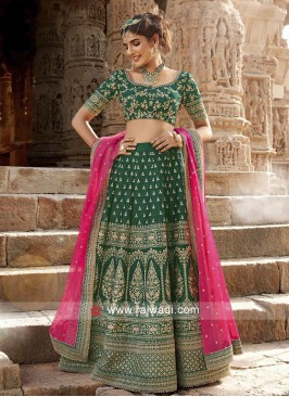 Silk Green Lehenga Set