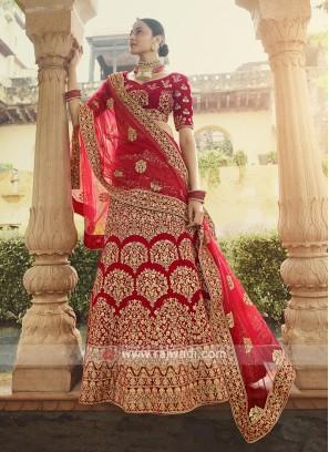 Velvet Lehenga Choli For Bridal