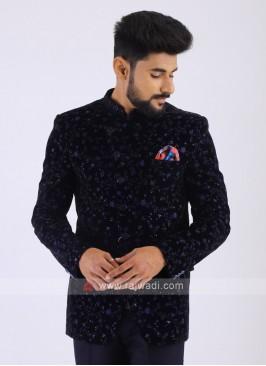 Velvet Navy Jodhpuri Suit