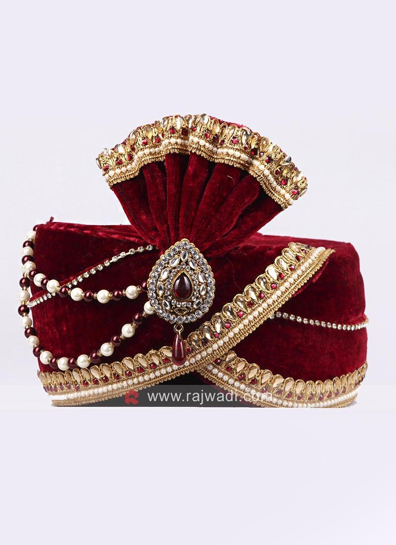 Velvet  Wedding Turban