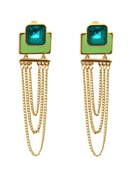 Verdant Multilayered Dangler Earrings