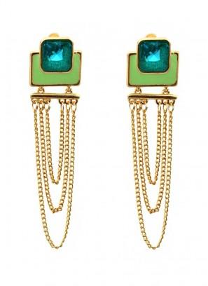 Verdant Multilayered Dangler Earrings