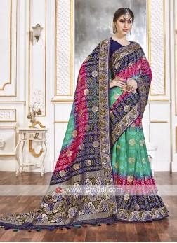 Viscose Saree In Multi Color