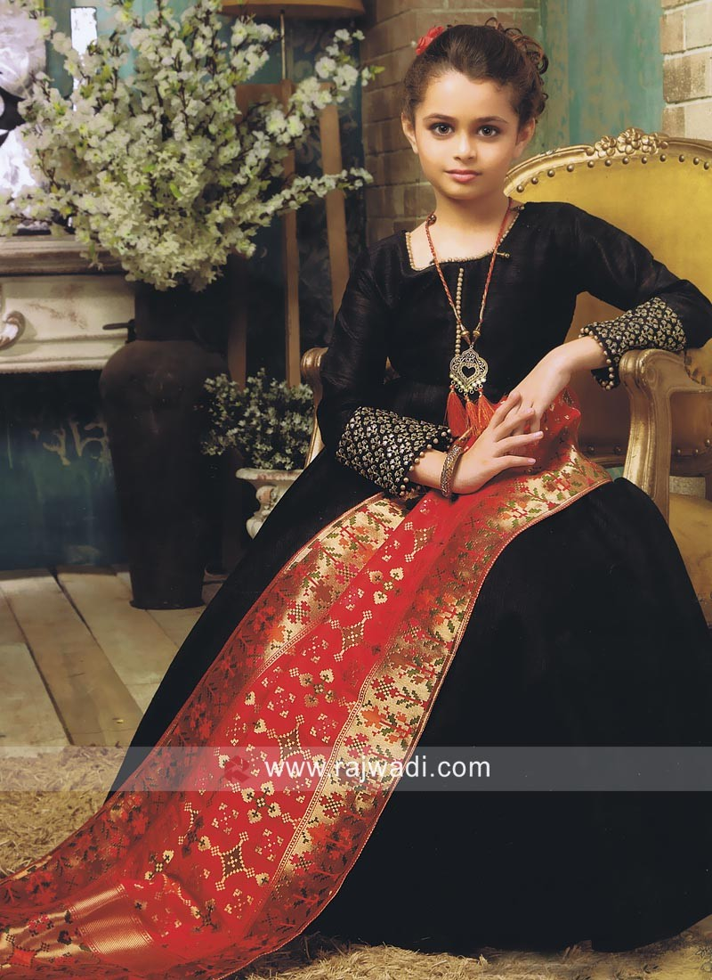 Wedding Anarkali Suit for Kids