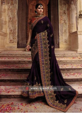 Wedding Art Silk Heavy Work Saree