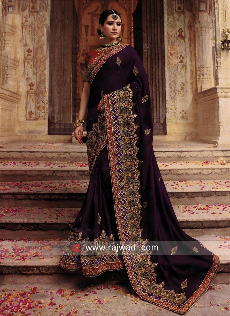 Wedding Art Silk Heavy Work Saree