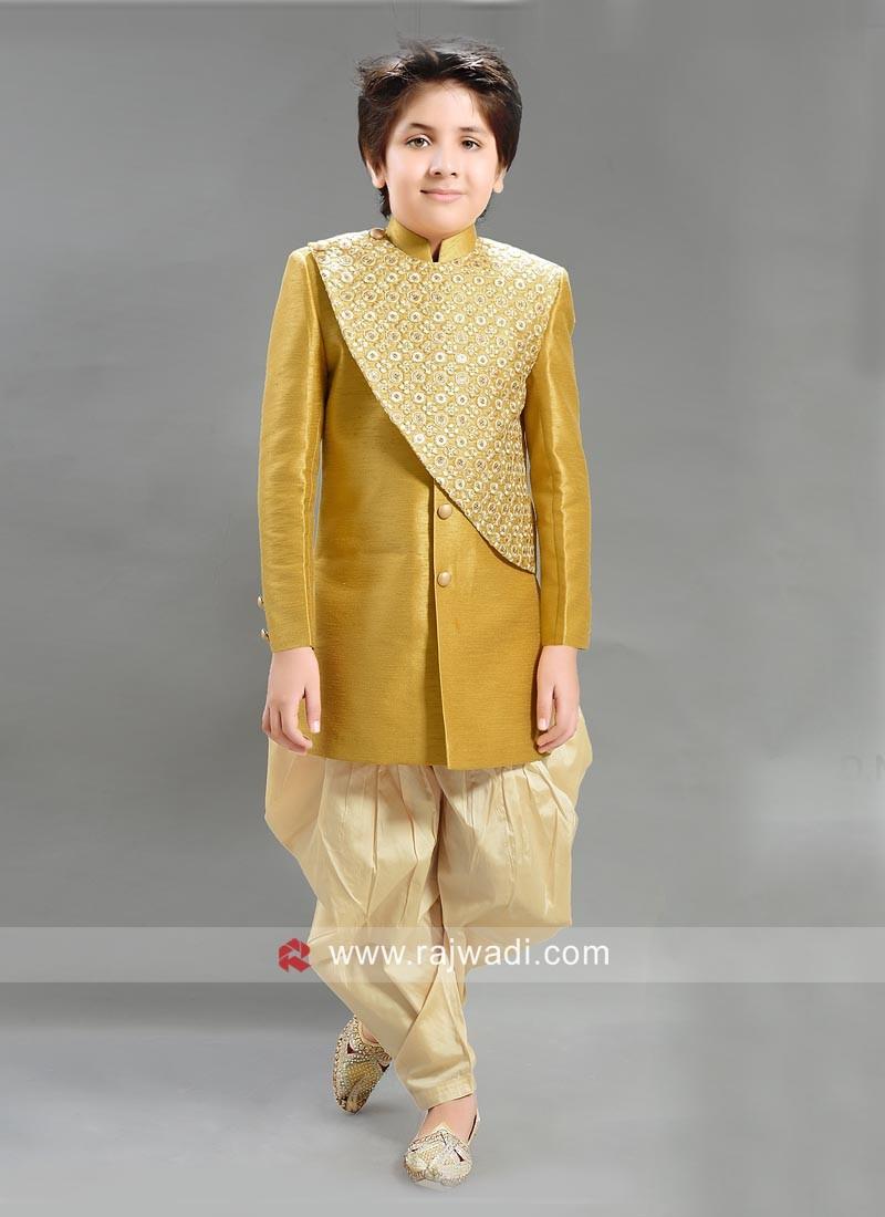 Wedding Art Silk Indo Western Patiala Suit