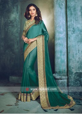 Wedding Border Work Saree
