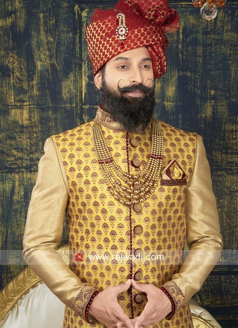 Wedding Brocade Silk Indo Western