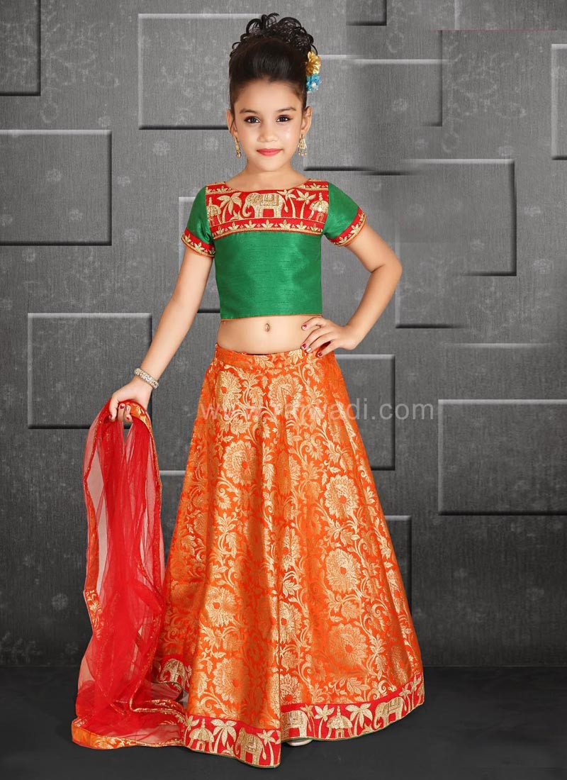 Wedding Choli Suit with Zari Work