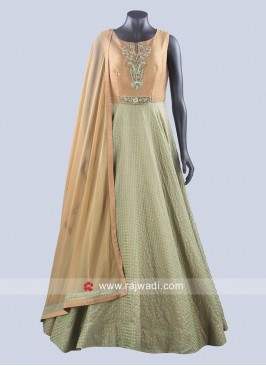 Cotton Silk Designer Anarkali Suit