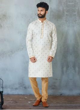 Wedding Cotton Silk Kurta Pajama