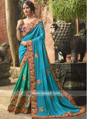 Wedding Designer Half Saree with Blouse