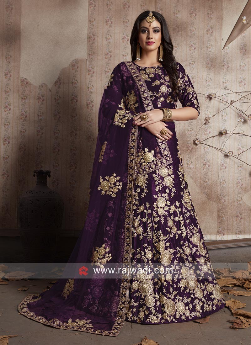 Wedding Designer Lehenga Choli in Purple